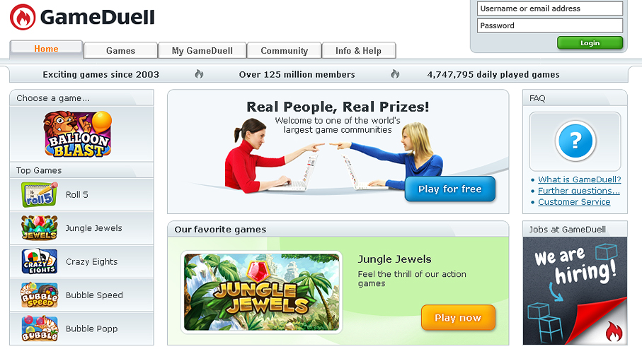 Games Duell Login